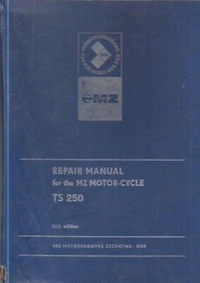 MZ TS 250 ORIGINAL 1974 FACTORY WORKSHOP MANUAL