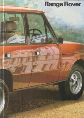 RANGE ROVER MK1 3.5L V8 2-DOOR & 4-DOOR ORIGINAL 1981 FACTORY UK SALES BROCHURE