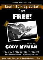 Free - Learn to Play Guitar Day August 22