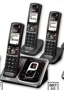 Bell Cordless Phone with Three Handsets and Answering System