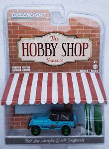 "GREENLIGHT ""The HOBBY SHOP ""CHASE"" 1987 Jeep Wrangler  with Surf"