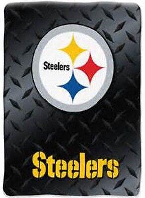 BIG COZY NEW NFL PITTSBURGH STEELERS SOFT PLUSH RASCHEL THROW BLANKET 60