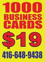 1000 BUSINESS CARDS ONLY $19
