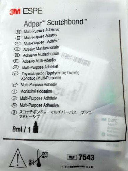 3M ESPE 7543 Adper Scotchbond Multi Purpose Dental Adhesive 8 mL