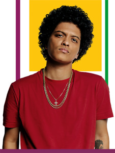 BRUNO MARS FACE VALUE  300 and 100 Level options 09/23