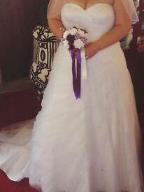 Phil Collins white wedding dress size 18