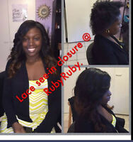Full sew-in weave with lace closure_hair extensions