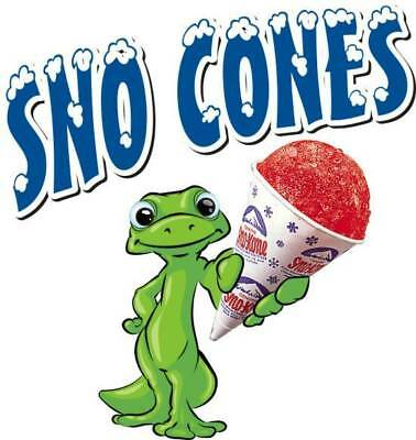 Sno Cones Kones Concession Trailer Cart Food Truck Vinyl Sticker Decal 14