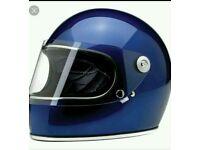 Navy Biltwell Gringo Helmet with Visor