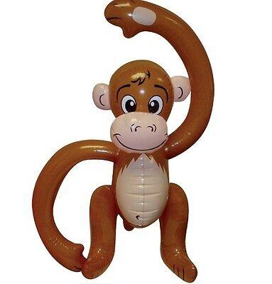 GADGET GONFIABILE Scimmia gonfiabile Scimpanzè Costume 58CM 57.1Cm NUOVA H
