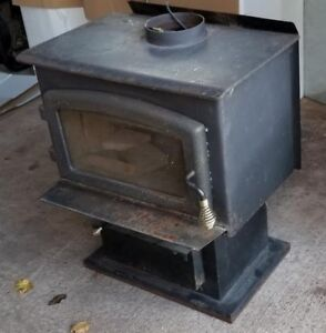 Wood stove with accessories