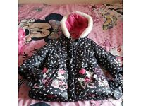 Disney Minnie Mouse girls coat age 3-4