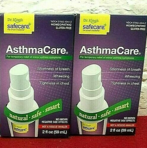 2 Pcs ! Dr. Kings Safecare Asthma Care Oral Spray 2 Oz Exp : 06 / 2020 Sealed !