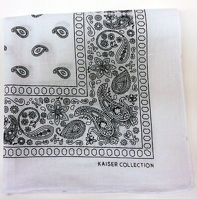 Lot Of 12 Paisley Print Scarf Bandana 100% Cotton 1 Dozen 12 Colors #1 on Rummage