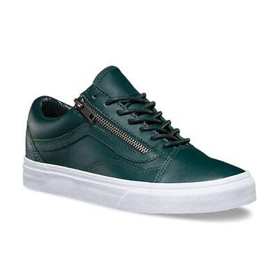 9928e3184fc6 VANS Old Skool Zip (Antique Silver) Green Gables Leather Skate WOMEN S 6.5