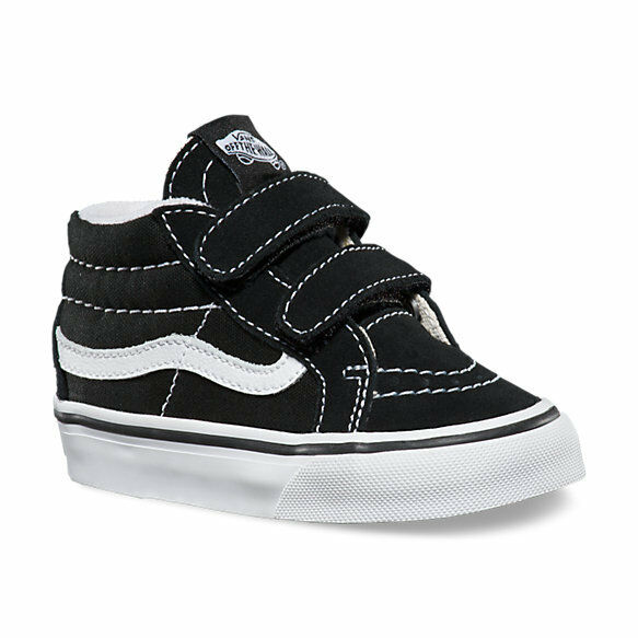 Vans SK8-Mid Reissue V Black / True White Toddlers Shoes New In Box VN-018W6BT 1