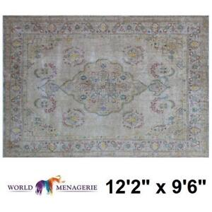 NEW KORINA OVERDYED AREA RUG 139772350 DISTRESSED HAND KNOTTED BEIGE RUGS CARPET CARPETS FLOORING DECOR ACCENTS MAT PAD