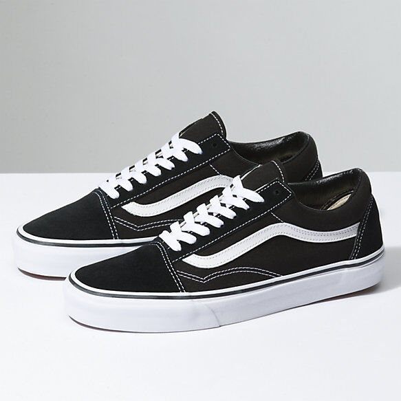 New Men and Women Vans Old Skool Black Skateboarding Shoes C