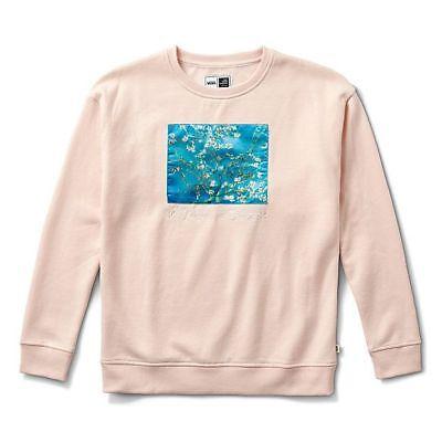 🔥[FREE WORLDWIDE SHIPPING]Vans X Van Gogh Crew Sweatshirt Almond Blossom Size S