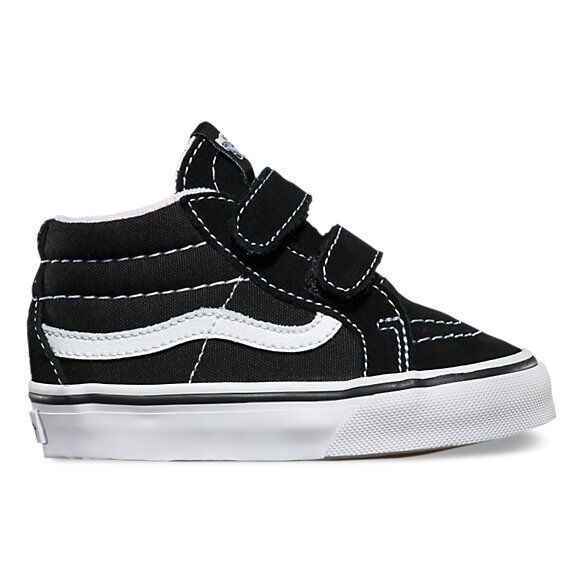 Vans SK8-Mid Reissue V Black / True White Toddlers Shoes New In Box VN-018W6BT