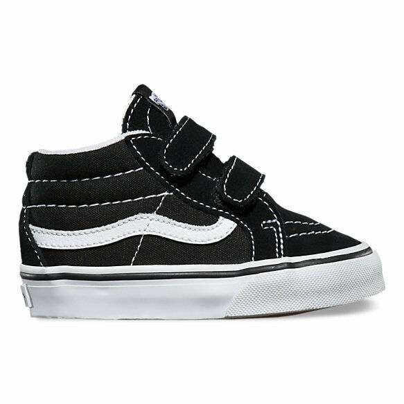Vans SK8-Mid Reissue V Black / True White Toddlers Shoes New In Box VN-018W6BT