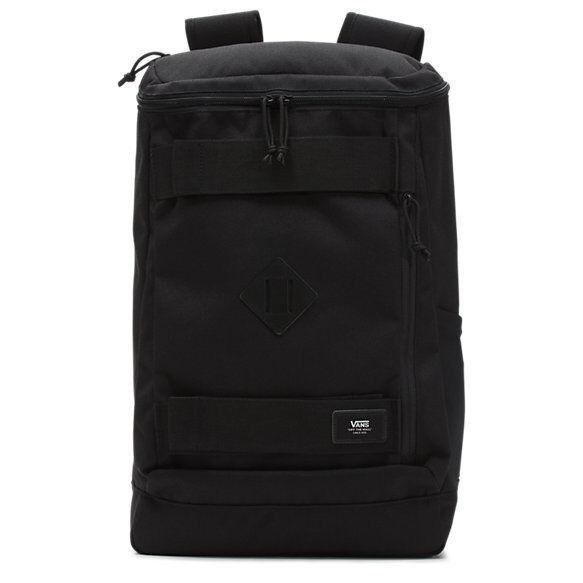 Vans Hooks Skatepack Black NEW Backpack Bag SKATE STRAPS Lap