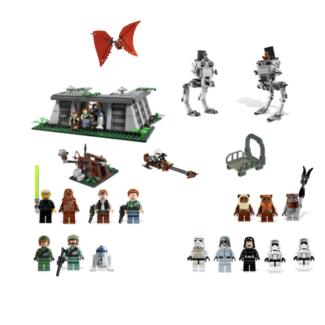 Lego Star Wars Endor Bunker Battle (#8038 #7657 #7201)