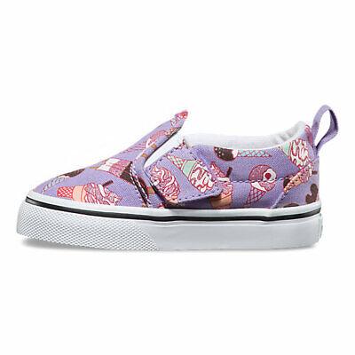 Vans Slip On V (Glitter Ice Cream) Purple- Toddlers 9.5