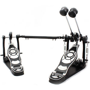 Drum Pedal Double Bass Dual Pedal Foot Kick Set Percussion Drummer Twin Hardware