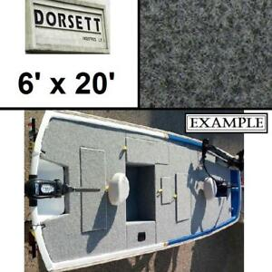 NEW DORSETT 6' x 20' MARINE CARPET 5810 143298675 5810 MARBLE GREY AQUA TURF BOATS BOATING WATERSPORTS FLOORING RUG T...