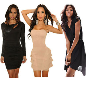 Ladies-Party-Dress-Cocktail-Evening-Dress-Club-Wear-Mini-Dress-8-10-12-14-16