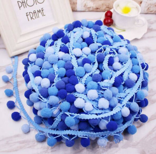 DIY 5 Yards colorful  Pom Ball Lace Trims Sewing Clothing//hat//scarf Accessories