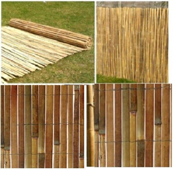 garden fence - Garden Slate Bamboo Screen Slatted Fence Privacy Wind/Sun Protraction Sheild
