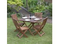 GARDEN Table & Chairs 5 Piece Hardwood Garden Furniture Set Victoria , New UK