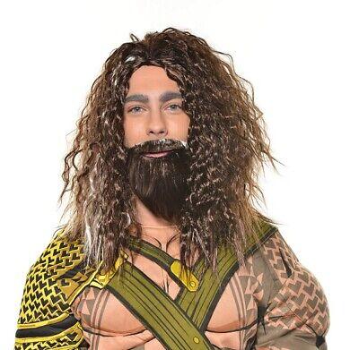 Halloween Cosplay Costume Aquaman Wig and Beard Set Adult ](Bearded Halloween Costumes)