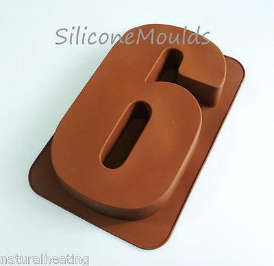 LARGE NUMBER SIX 6 9 SILICONE BIRTHDAY CAKE MOULD BAKEWARE PAN TIN BAKING MOLD