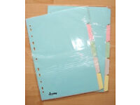 A4 Dividers, niceday, 2 sets of 5-part Multi-coloured