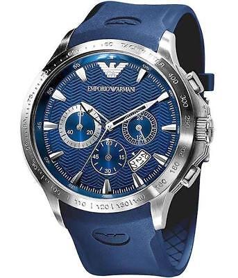** NEW **Emporio Armani® watch AR0649 , BLUE , mens CHRONOGRAPH