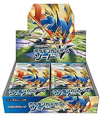 Japanese Pokemon Card Booster Box Sword V-MAX Limited Promo 30Packs Zacian