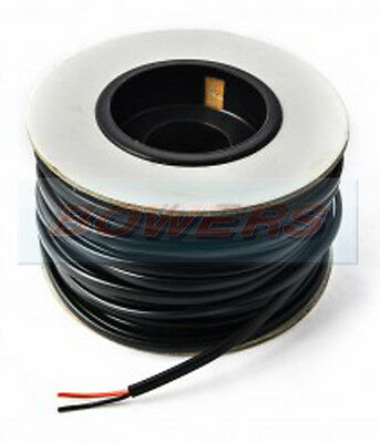 30M METRE ROLL REEL BLACK/RED TWIN CORE CABLE WIRE 2x 9 STRAND 2x 0.65mm² 5A AMP