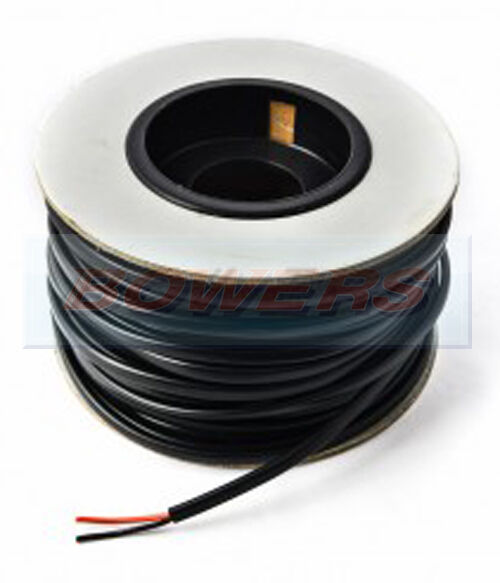 30M BLACK THIN WALL SINGLE CORE CABLE WIRE 33A 44//0.30 3MM AUTO CAR MARINE