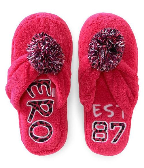 Aeropostale Women's Fuzzy House Slippers