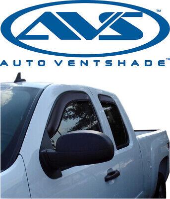 AVS 194040 In-Channel Window VentVisors 4-Pc 2007-2014 Chevy Silverado Ext Cab