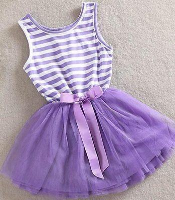 Cute Little Mädchen Kleider (GIRL'S PURPLE TUTU DRESS Summer Party PRINCESS Cute LITTLE GIRLS DRESS Gift Love)