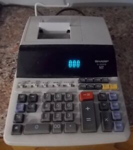 Calculatrice imprimante de table,12 chiffres Sharp EL2615PIII