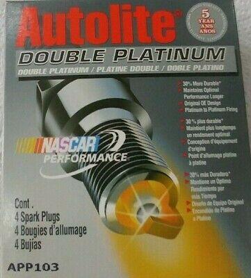- Spark Plug-Double Platinum Autolite APP103 Box Of (4) Spark Plugs