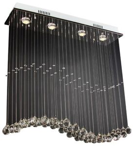 4 LED lights ceiling crystal chandelier,brand new in box