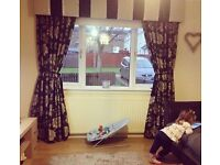 Pelmet and curtains