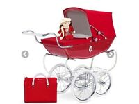 lovely toy silver cross toy pram immacculate CHATSWORTH SPECIAL EDITION