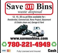 Save On Bins Edmonton 780-221-4949 Low Cost FAST Service